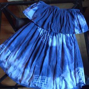 AEO Smocked Ruffle Romper Dress